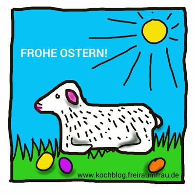 gezeichnetes Osterlamm von Freiraumfrau