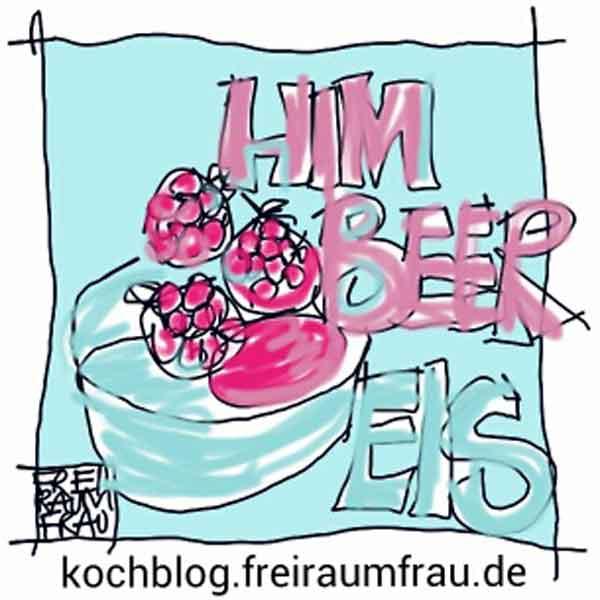 Himbeereneis-Zeichnung