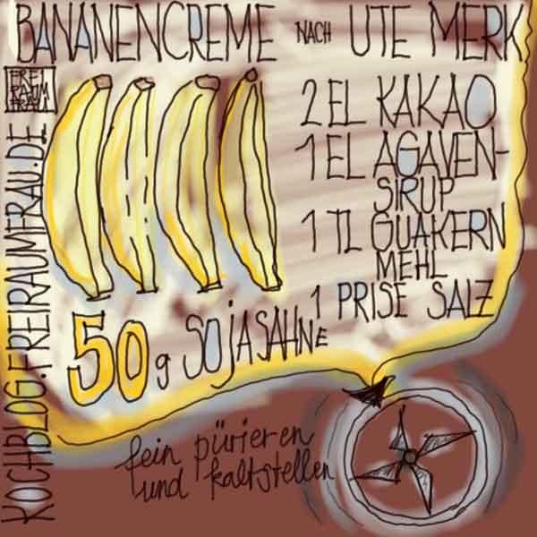 Bananencreme-Freiraumfrau