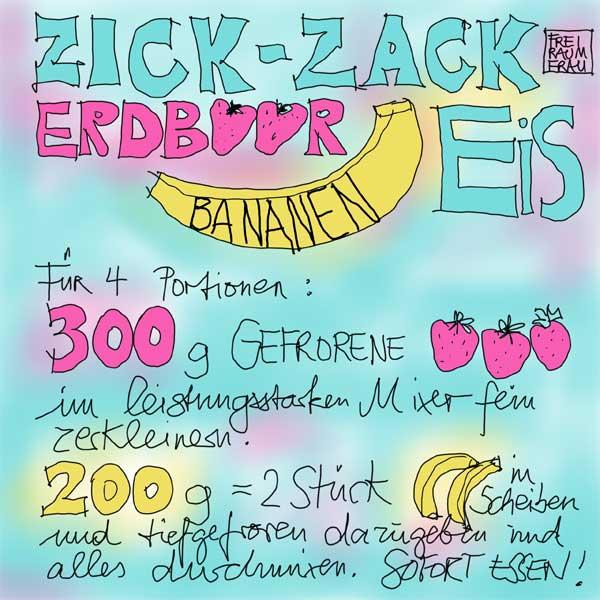 Bananen-Erdbeereis